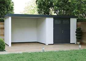 Telluria metalen tuinhuis eleganto 2424 lounge 2824
